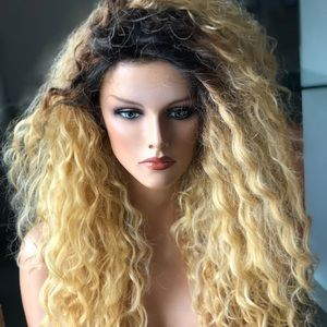 "Other - ""Lenoir"" Butterscotch Root Blonde Curls Lace wig"